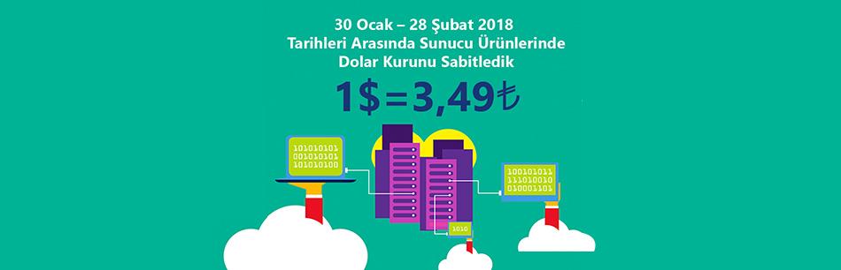 Sunucu Ürünlerinde Dolar Kurunu Sabitledik - Turcom